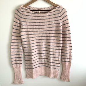 Free People Striped Alpaca Blend Sweater